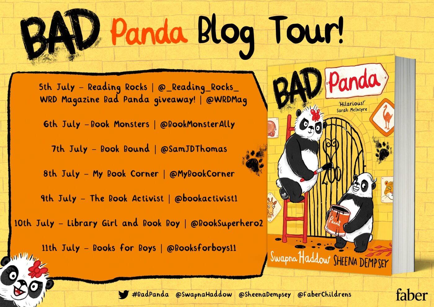 Bad panda blog tour dates